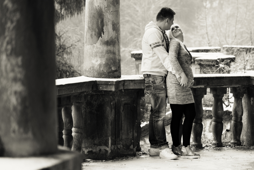 Couple at Kunerad Castle